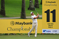 Rattanon Wannasrichan (THA) in action on the 11th during Round 2 of the Maybank Championship at the Saujana Golf and Country Club in Kuala Lumpur on Friday 2nd February 2018.<br /> Picture:  Thos Caffrey / www.golffile.ie<br /> <br /> All photo usage must carry mandatory copyright credit (&copy; Golffile | Thos Caffrey)