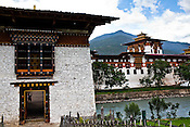 The bridge leading to the Punakha Dzong in Punakha, the older capital of Bhutan. Punakha is the administrative centre of Punakha dzongkhag, one of the 20 districts of Bhutan. Photo: Sanjit Das/Panos