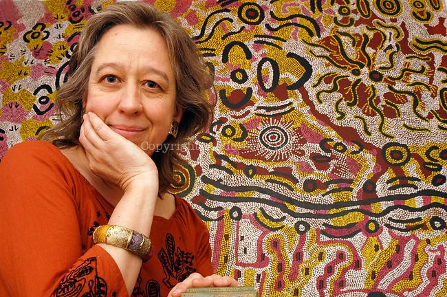 Barbara Glowczewski, researcher, at home in Paris.