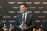 Michael Lee, President of Hong Kong Equestrian Federation, speaks at Longines Hong Kong Masters official press conference at the Happy Valley Racetrack on February 02, 2016 in Hong Kong.  Photo by Victor Fraile / Power Sport Images