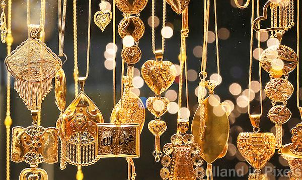 Nederland Beverwijk 2017 . De Bazaar in Beverwijk. De Goudsouk. In de Goudsouk worden sieraden van goud en zilver verkocht.   Foto Berlinda van Dam / Hollandse Hoogte