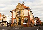 Historic town hall building, Marlborough, Wiltshire, England, UK, built 1902