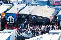 Nov 3, 2019; Las Vegas, NV, USA; Pit area of NHRA top fuel driver Leah Pritchett during the Dodge Nationals at The Strip at Las Vegas Motor Speedway. Mandatory Credit: Mark J. Rebilas-USA TODAY Sports