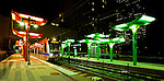 "The Charlotte light rail line, also called ""Cats"" for Charlotte Area Transit System, runs throught uptown Charlotte NC. The Charlotte transit line runs down South Boulevard to south Charlotte."