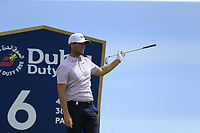 Lucas Bjerregaard (DEN) tees off the 6th tee during Thursday's Round 1 of the Dubai Duty Free Irish Open 2019, held at Lahinch Golf Club, Lahinch, Ireland. 4th July 2019.<br />