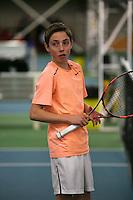 Rotterdam, The Netherlands, 15.03.2014. NOJK 14 and 18 years ,National Indoor Juniors Championships of 2014, Sander Jong (NED)<br /> Photo:Tennisimages/Henk Koster