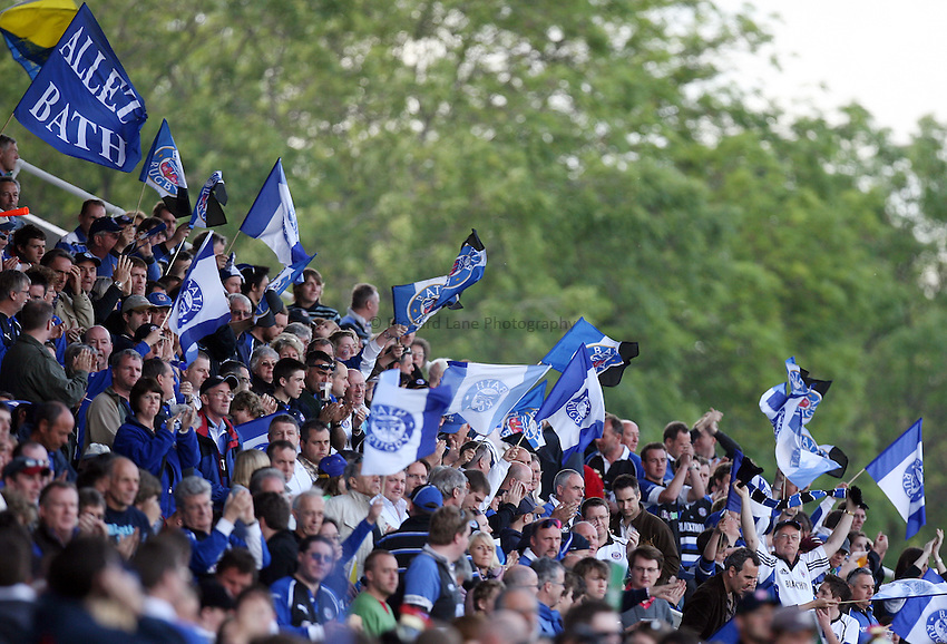 Photo: Rich Eaton...Bath Rugby v Clermont Auvergne. European Challenge Cup Final. 19/05/2007. Bath fans wave flags.