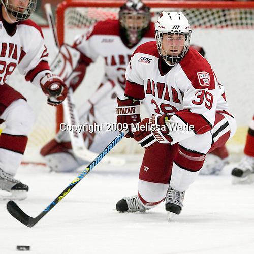 Pier-Olivier Michaud (Harvard - 39) - The St. Lawrence University Saints defeated the Harvard University Crimson 3-2 on Friday, November 20, 2009, at the Bright Hockey Center in Cambridge, Massachusetts.