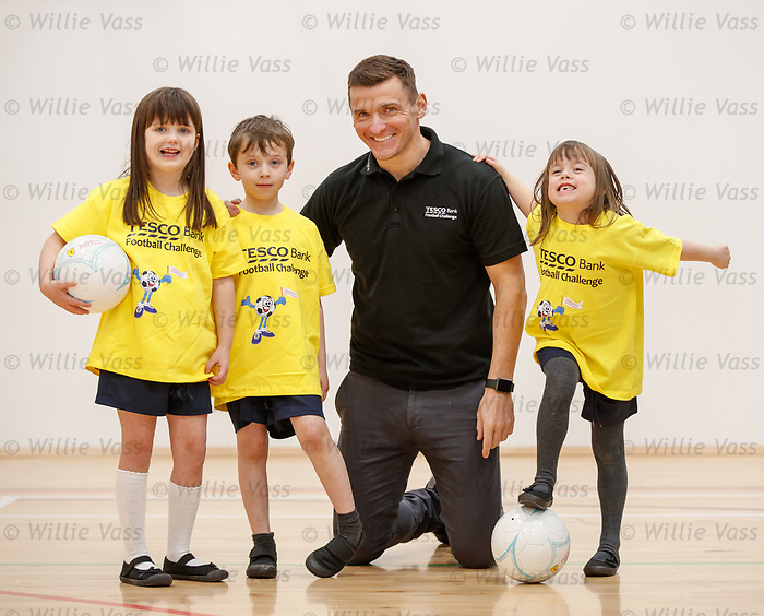Lee McCulloch at Calderwood Lodge Primary, Newton Mearns for Tesco Bank football