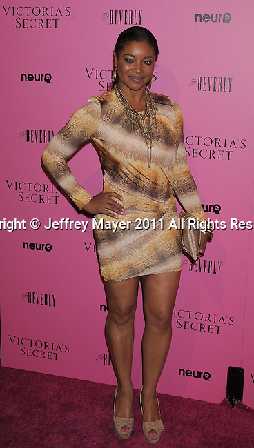 """LOS ANGELES, CA - MAY 12: Tamala Jones arrives to the Victoria's Secret 6th Annual """"What Is Sexy? List: Bombshell Summer Edition"""" Pink Carpet Event at The Beverly on May 12, 2011 in Los Angeles, California."""