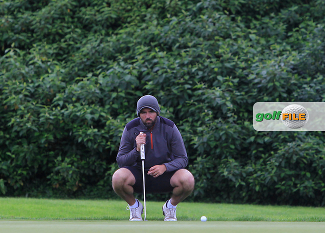 Barry Leahy (Lee Valley) on the 11th green during the Semi-Finals of the Munster Bruen &amp; Shield Finals at East Clare Golf Club on Sunday 19th July 2015.<br /> Picture:  Golffile | Thos Caffrey All photo usage must carry mandatory copyright credit (&copy; Golffile | Thos Caffrey)