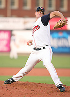 Jordan Craft of the Lowell Spinners, Class-A affiliate of the Boston Red Sox, during the New York-Penn League season.  Photo by:  Mike Janes/Four Seam Images