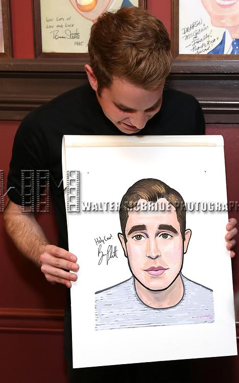 Ben Platt attends the Ben Platt Sardi's Portrait unveiling at Sardi's on May 30, 2017 in New York City.