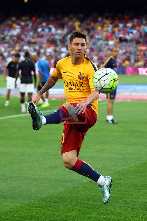 League BBVA 2015/2016. Game: 2.<br /> FC Barcelona vs Malaga CF: 1-0.<br /> Lionel Messi.