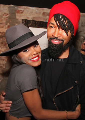 "NEW YORK, NY - OCTOBER 27: Teyana Taylor & Ty Hunter at the ""VII"" album Listening party at Up & Down, October 27, 2014 in New York City.Credit: Walik Goshorn/MediaPunch"