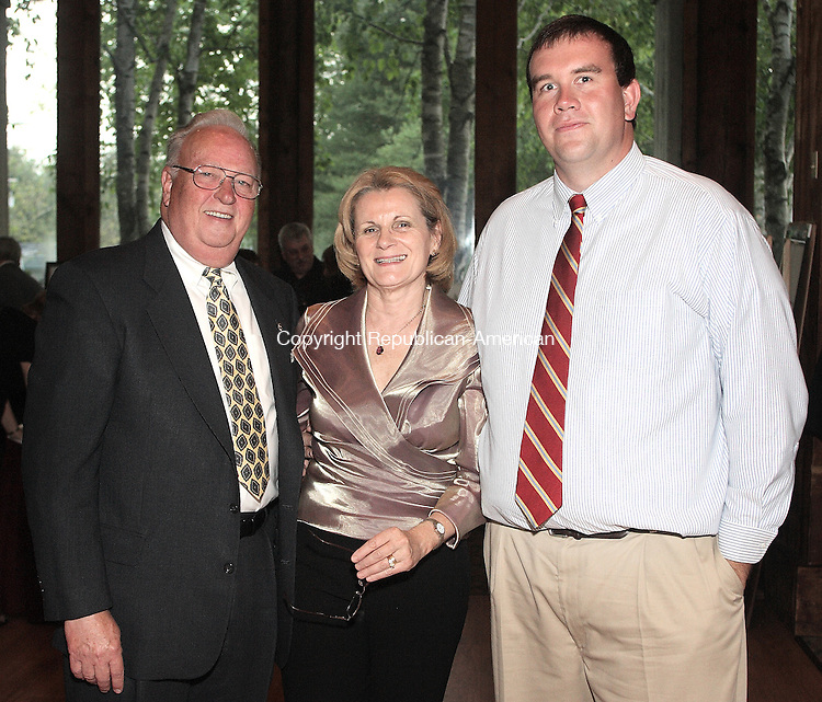 Southbury, CT-31 May 2008-053108MK13  (From left) Dick Kahn, Avril Dobeusek and Mike Madden gathered at The Heritage Hotel for the Habitat for Humanity 3rd Annual Gala   in Southbury. Michael Kabelka / Republican-American  ( (From left) Dick Kahn, Avril Dobeusek and Mike Madden)CQ