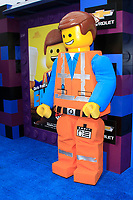 """LOS ANGELES - FEB 2:  Emmet character, atmosphere at """"The Lego Movie 2: The Second Part"""" Premiere at the Village Theater on February 2, 2019 in Westwood, CA"""