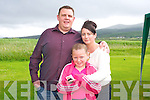 Alan, Amy and Catriona O'Connor. at the Official opening of the New Clubhouse at Castlegregory golf course on Saturday.