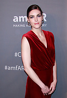 NEW YORK, NY - FEBRUARY 6: Hilary Rhoda arriving at the 21st annual amfAR Gala New York benefit for AIDS research during New York Fashion Week at Cipriani Wall Street in New York City on February 6, 2019. <br /> CAP/MPI99<br /> &copy;MPI99/Capital Pictures