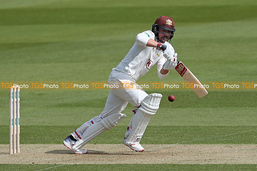 Rory Burns in batting action for Surrey during Surrey CCC vs Essex CCC, Specsavers County Championship Division 1 Cricket at the Kia Oval on 11th April 2019