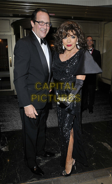 LONDON, ENGLAND - OCTOBER 04: Percy Gibson &amp; Joan Collins attend the Shooting Star CHASE Ball, The Dorchester Hotel, Park Lane., on Saturday October 04, 2014 in London, England, UK. <br /> CAP/CAN<br /> &copy;Can Nguyen/Capital Pictures
