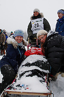Charlotte Matheis of Nome waits at the start line of the 2009 Junior Iditarod on Knik Lake on Saturday Februrary 28, 2009.
