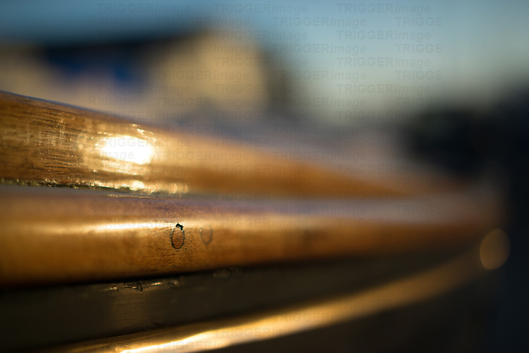 close up of sailing tackle in a boatyard