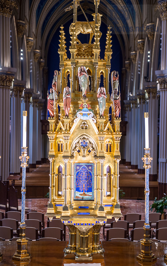 July 21, 2016; High Altar at the Basilica of the Sacred Heart. (Photo by Barbara Johnston)