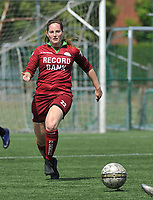 20180804 - ZULTE , BELGIUM : Zulte Waregem's Annelore Scheerens pictured during a friendly soccer match between the women teams of Zulte Waregem and Bosdam Beveren  , during the preparation of the 2018-2019 season, Saturday 4 August 2018 . PHOTO DIRK VUYLSTEKE / SPORTPIX.BE