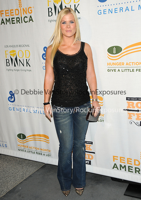 Alison Sweeney at The Rock a Little ,Feed a lot benefit concert to support the L.A. Regional Food Bank & Feeding America held at Club Nokia in Los Angeles, California on September 29,2009                                                                   Copyright 2009 DVS / RockinExposures