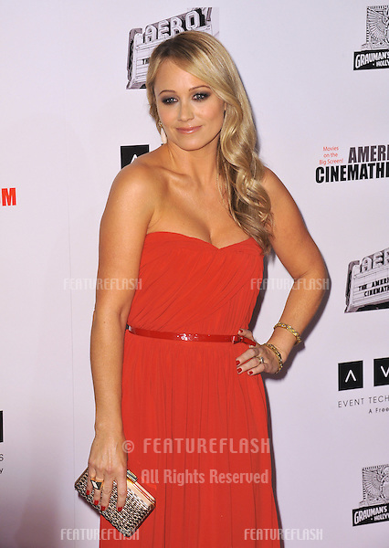 Christine Taylor at the 26th Annual American Cinematheque Awards Ceremony honoring her husband Ben Stiller at the Beverly Hilton Hotel..November 15, 2012  Beverly Hills, CA.Picture: Paul Smith / Featureflash