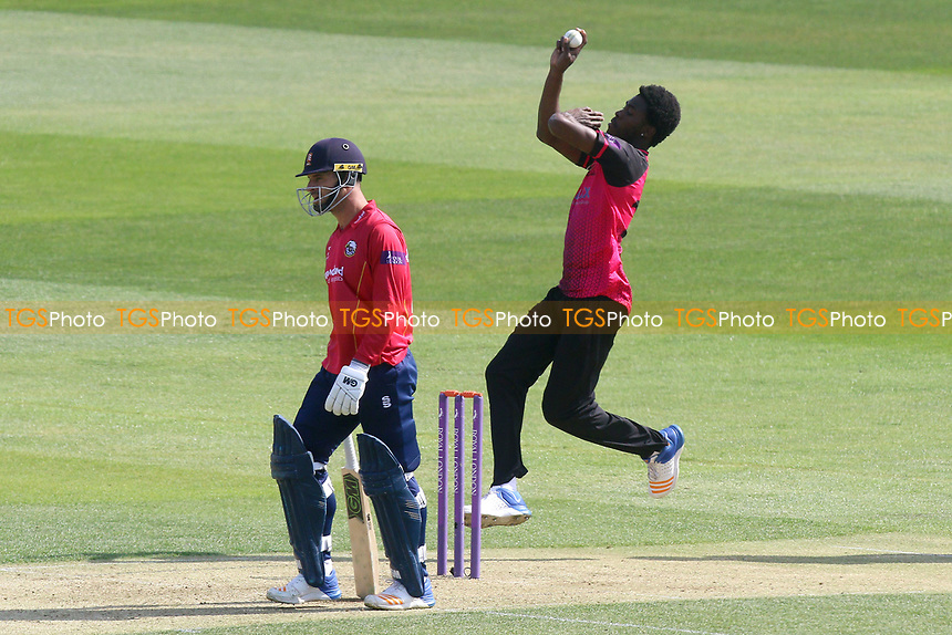 Jofra Archer in bowling action for Sussex during Essex Eagles vs Sussex Sharks, Royal London One-Day Cup Cricket at The Cloudfm County Ground on 10th May 2017