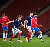23rd March 2018, Hampden Park, Glasgow, Scotland; International Football Friendly, Scotland versus Costa Rica; Bryan Ruiz of Costa Rica and Matt Ritchie of Scotland as Scott McKenna of Scotland watches