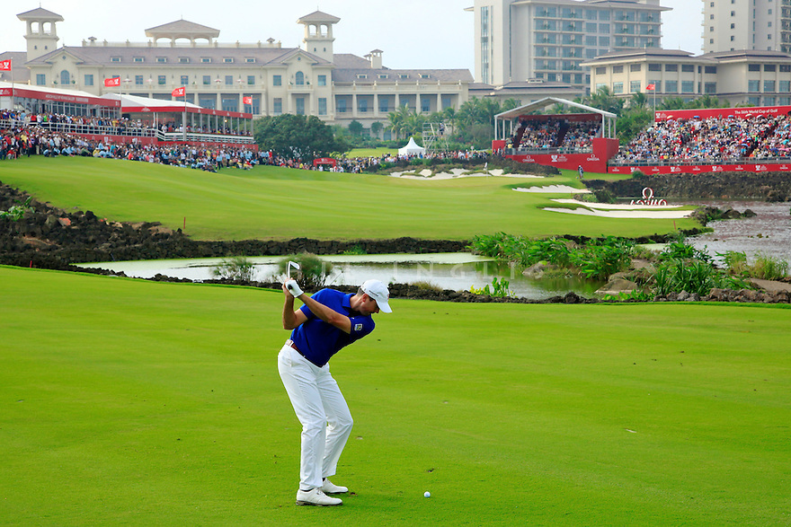 Matt Kuchar (USA) during the final round of the Omega Mission Hills World Cup played at The Blackstone Course, Mission Hills Golf Club on November 27th in Haikou, Hainan Island, China.( Picture Credit / Phil Inglis )