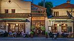Restauracja &quot;Szara&quot; na ulicy Szerokiej na krakowskim Kazimierzu.<br /> &bdquo;Szara&quot; restaurant on Szeroka Street in Krakow's Kazimierz district.