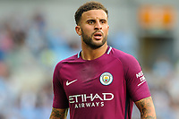 Kyle Walker of Manchester City (2)  during the EPL - Premier League match between Brighton and Hove Albion and Manchester City at the American Express Community Stadium, Brighton and Hove, England on 12 August 2017. Photo by Edward Thomas / PRiME Media Images.