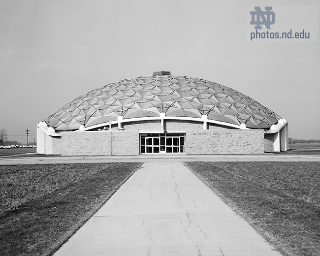 GPHR 45/0059:  Stepan Center exterior, c1960s..Image from the University of Notre Dame Archives.