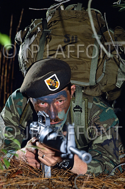 Special Force, April 1982. Night Patrol and Comando attack around Fort Bragg, NC.