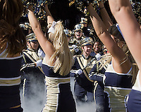 The Pitt band takes the field. The Pitt Panthers defeated the Gardner-Webb Runnin Bulldogs 55-10 at Heinz Field, Pittsburgh PA on September 22, 2012..