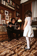 "March 1, 1971 - New Jersey. Paul Anka and daughters at home. Paul Anka (b. July 30, 1941) is a Canadian singer, songwriter and actor who became famous with the hit songs ""Diana"", ""Lonely Boy"" and ""Put Your Head on My Shoulder"", as well as famously wrote the well-known theme music for The Tonight Show Starring Johnny Carson and one of Tom Jones's biggest hits, ""She's a Lady""."