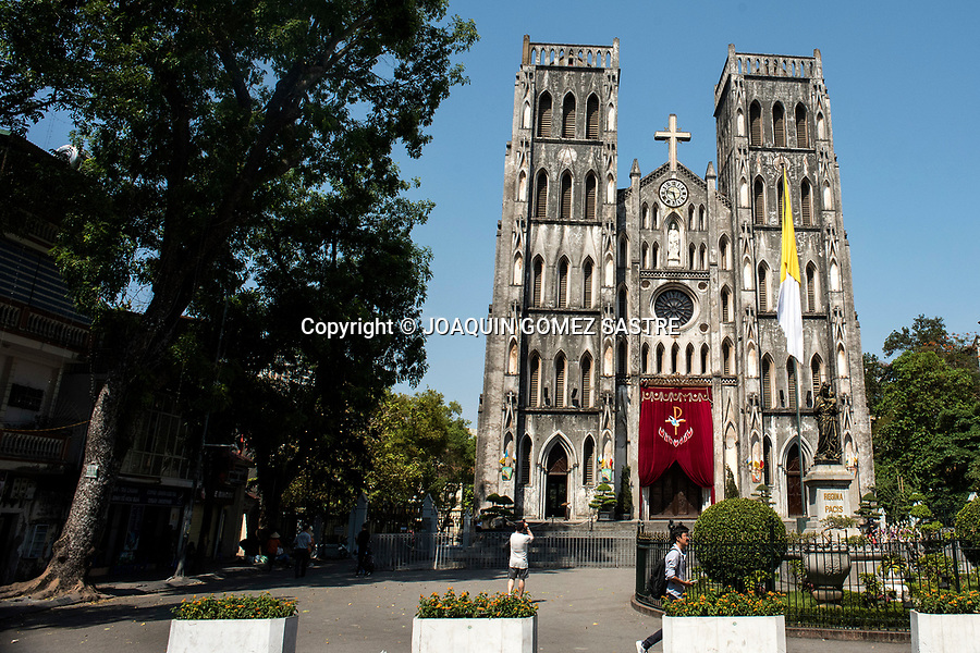 Cathedral of St. Joseph, is a Catholic Cathedral located in Hanoi, Vietnam. It is the seat of the archdiocese of Hanoi. The church was built in 1886 in the neo-Gothic style. It usually welcomes crowds of worshipers and visitors.<br />
