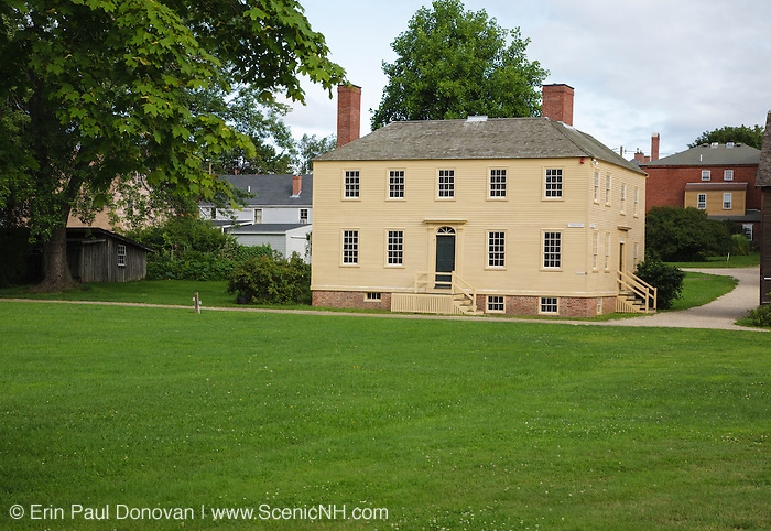 Strawbery Banke in Portsmouth, New Hampshire USA during the summer months