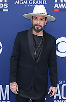 07 April 2019 - Las Vegas, NV - AJ McLean. 54th Annual ACM Awards Arrivals at MGM Grand Garden Arena. Photo Credit: MJT/AdMedia<br /> CAP/ADM/MJT<br /> &copy; MJT/ADM/Capital Pictures
