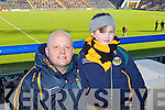 Pictured at the Dr Crokes match in Portlaoise on Saturday, from left: Murt Faley and Emma Faley, from Finuge..