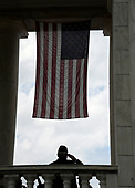 A veteran salutes during  a wreath-laying ceremony at the Tomb of the Unknown Soldier at Arlington National Cemetery on Memorial Day , May 29, 2017 in Arlington, Virginia. <br /> Credit: Olivier Douliery / Pool via CNP