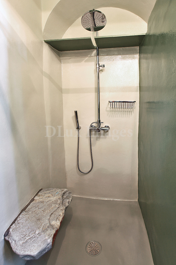 traditional shower cabin