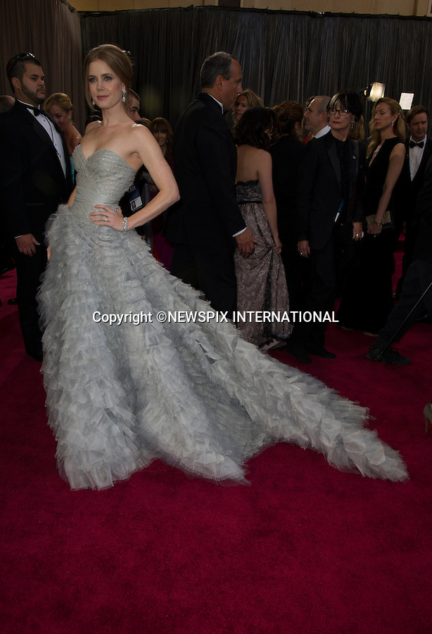 """AMY ADAMS..Red Carpet arrival for the 85th Annual Academy Awards, Dolby Theatre, Hollywood, Los Angeles_23/02/2013.Mandatory Photo Credit: ©Dias/Newspix International..**ALL FEES PAYABLE TO: """"NEWSPIX INTERNATIONAL""""**..PHOTO CREDIT MANDATORY!!: NEWSPIX INTERNATIONAL(Failure to credit will incur a surcharge of 100% of reproduction fees)..IMMEDIATE CONFIRMATION OF USAGE REQUIRED:.Newspix International, 31 Chinnery Hill, Bishop's Stortford, ENGLAND CM23 3PS.Tel:+441279 324672  ; Fax: +441279656877.Mobile:  0777568 1153.e-mail: info@newspixinternational.co.uk"""