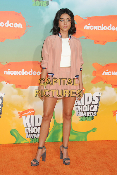 12 March 2016 - Inglewood, California - Sarah Hyland. 2016 Nickelodeon Kids' Choice Awards held at The Forum.  <br /> CAP/ADM/BP<br /> &copy;BP/ADM/Capital Pictures