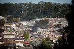 SAN BRUNO, CA - SEPTEMBER 10: A view of part of a residential neighborhood burned by an explosion September 10, 2010 in San Bruno, California. A massive explosion rocked a neighborhood near San Francisco International Airport, destroying 37 homes, killing at least 4 people, and injuring at least 50.