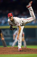 Hamels, Cole 5767.jpg Philadelphia Phillies at Houston Astros. Major League Baseball. September 6th, 2009 at Minute Maid Park in Houston, Texas. Photo by Andrew Woolley.